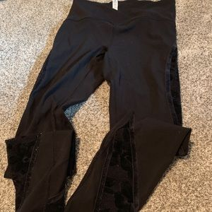 Black velvet lululemon leggings